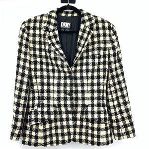 DKNY blazer 10 houndstooth vintage wool blend
